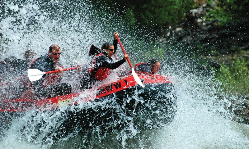 Whitewater Rafting the Snake River near Jackson Wyoming