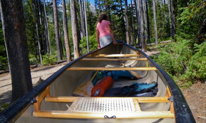 Canoe Canoeing Grand Teton National Park Wyoming