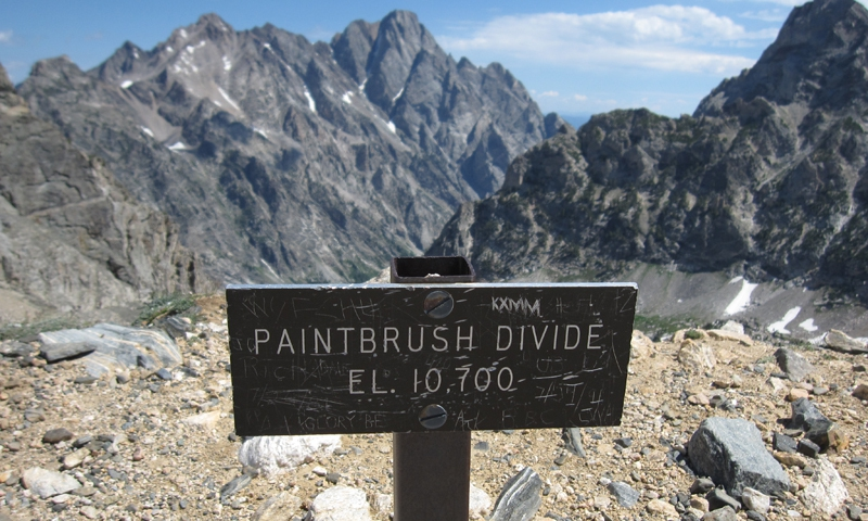 On top of Paintbrush Divide