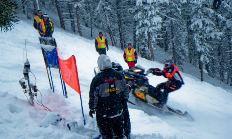 Snow King Snowmobile Hill Climb Jackson Wyoming