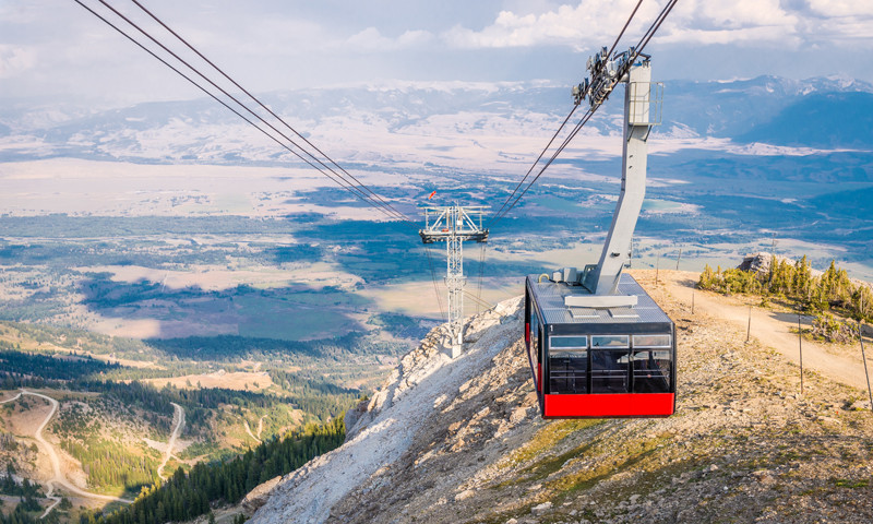 tram at jackson hole mountain resort in summer