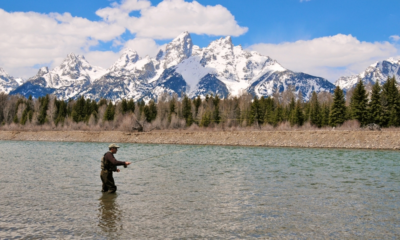 Fishing Snake River Jackson Wyoming Grand Teton National Park