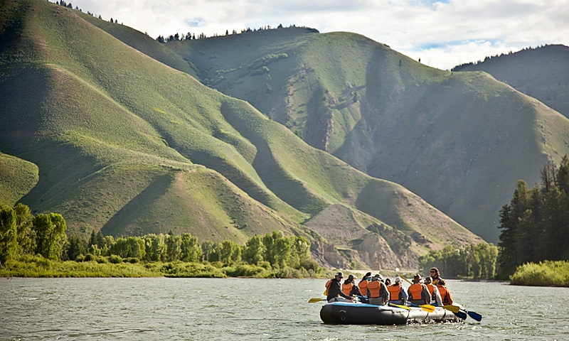 Scenic Whitewater Rafting Snake River Jackson Hole Wyoming Jackson