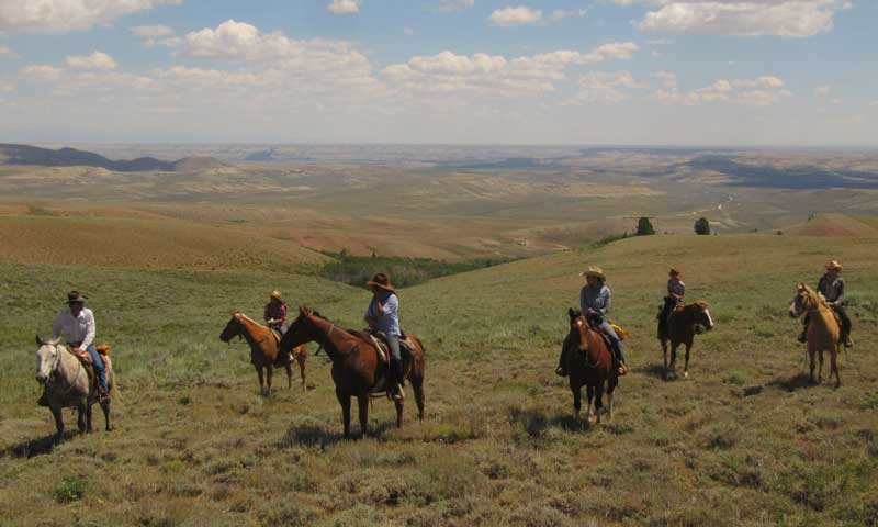 Horseback Riding near the Green River Valley in Lander Wyoming