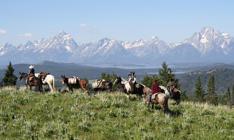 Horseback Riding near the Tetons