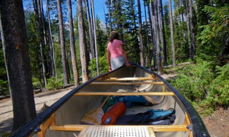Canoe Canoeing Grand Teton National Park Wyoming