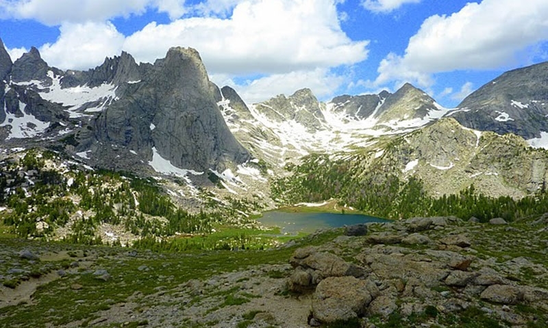 The Wind River Range near Pinedale Wyoming